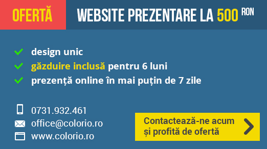 Ofertă Website - Colorio.ro